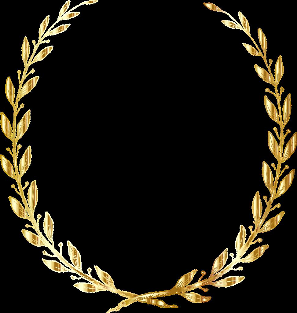laurel, wreath, line art